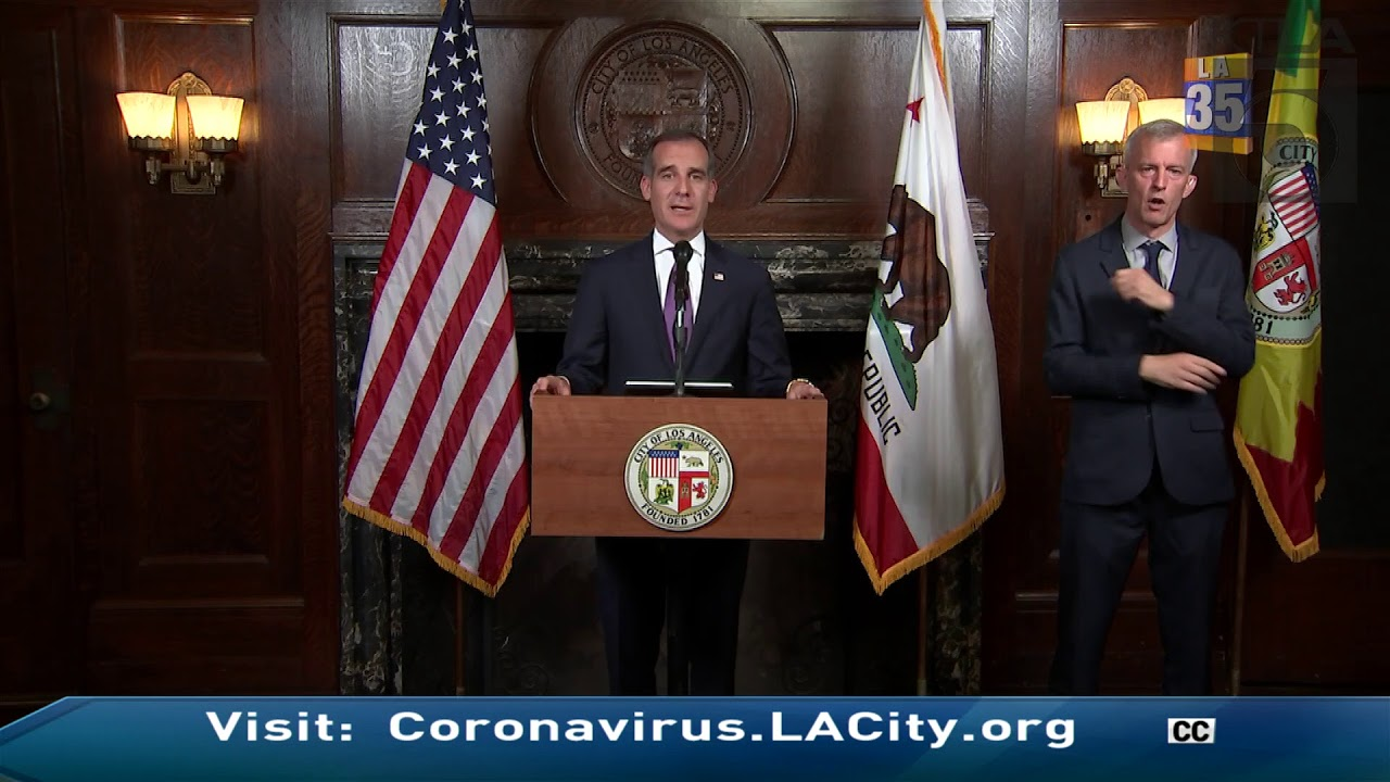 'If You Love The City, Go Home': Los Angeles Mayor Eric Garcetti ...