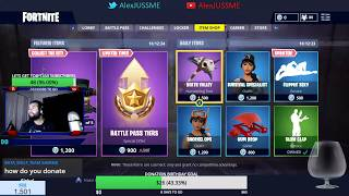 AlexJUSSME FORTNITE LIVE TEST CHAT COINS HD 1080P PS4