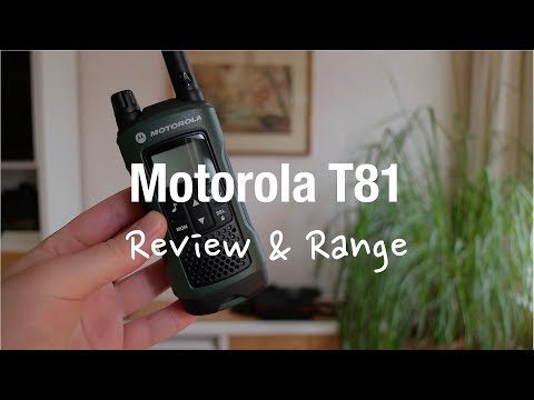 Motorola TLKR T81 Hunter - 2 Way Radio (Review and Range Test)