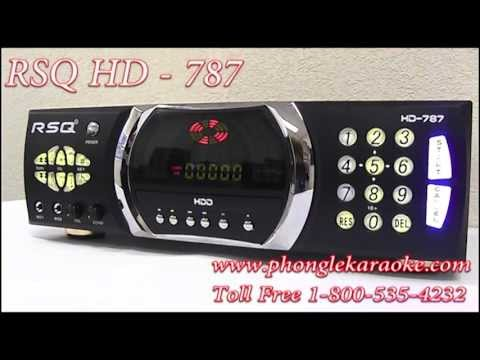 RSQ HD-787 2TB DVD Hard Drive Karaoke Player