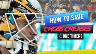 NHL 18 Goalie Tips | How to Save Cross Creases & One Timers | EASHL & THREES