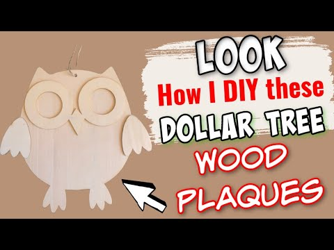 LOOK How I DIY These Dollar Tree WOOD OWLS By CRAFTER'S SQUARE | EASY DIY