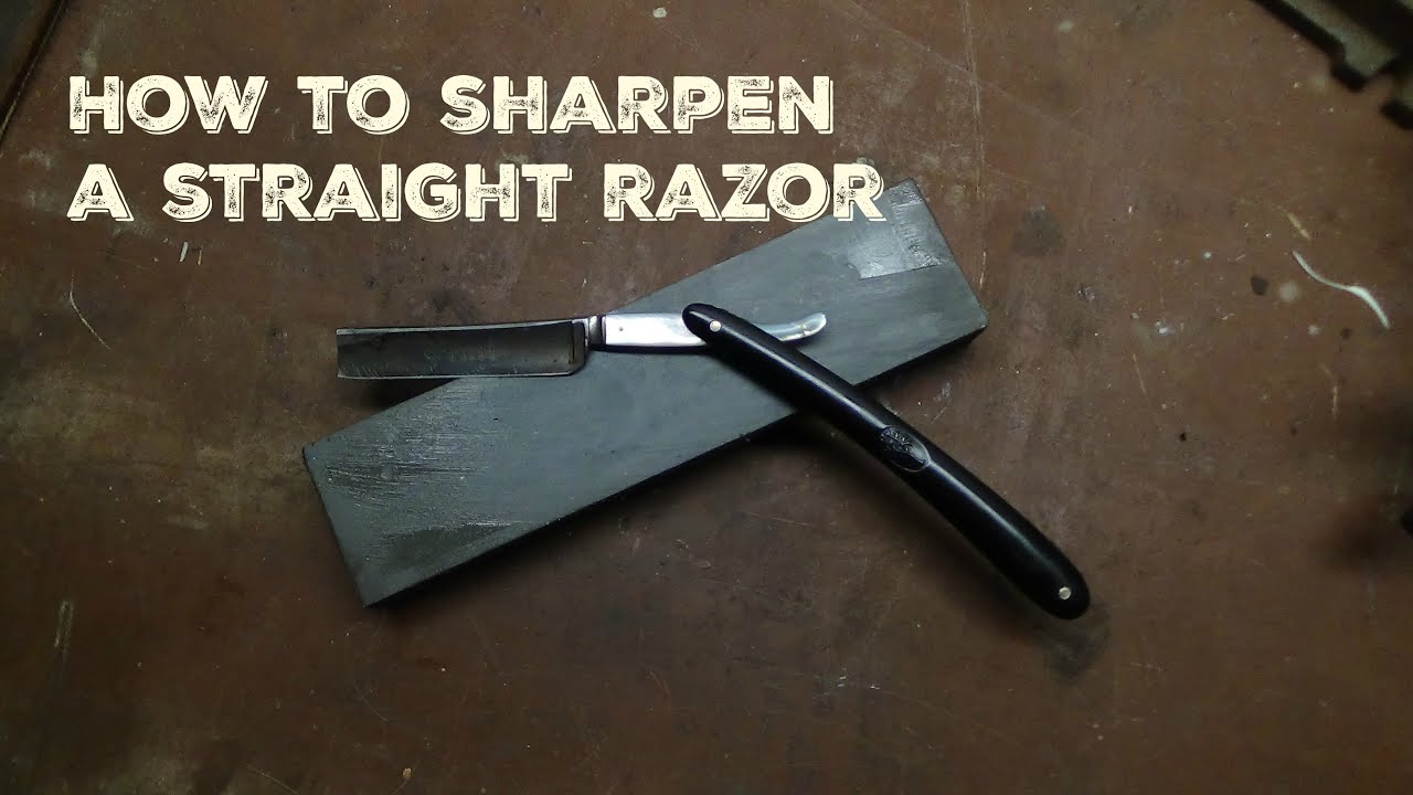 how to hold a straight razor