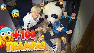 ¡BROMA GRACIOSA A PANDA! PUSE 100 TRAMPAS DE RATONES EN SU HABITACIÓN