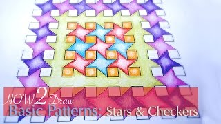 How To Draw Simple Geometric Patterns: Stars and Squares