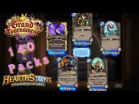 140 TGT Pack Opening - Hearthstone - The Grand Tournament Expansion