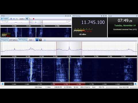 14 11 2017 Al Azm Radio on 11745 Jeddah or Riyadh & Republic of Yemen Radio on 11860 Jeddah, 0748UTC
