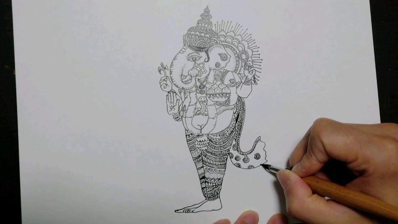 ドローイング動画『Ganapati』と『big tree』