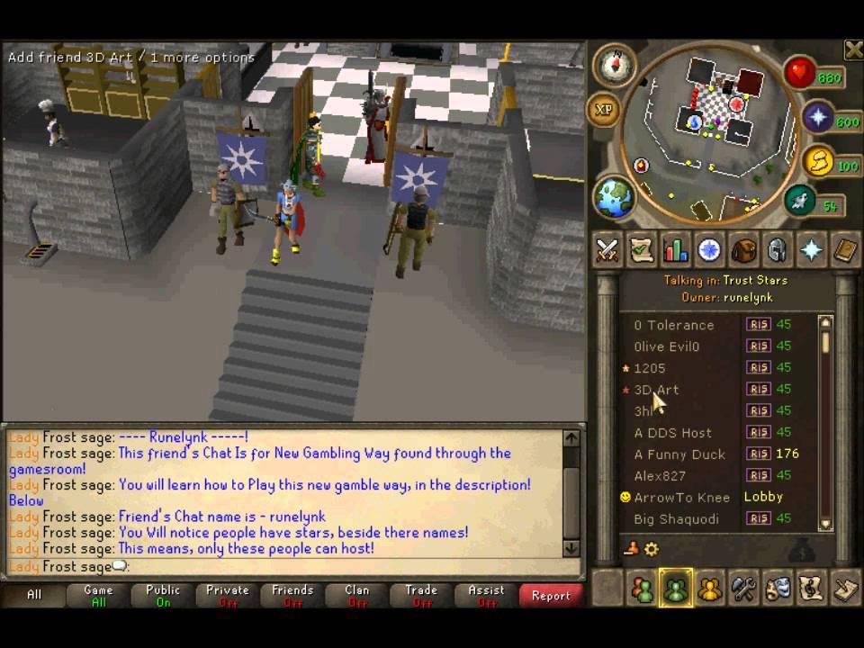 Runescape gambling hosts gebrauchte waffen online