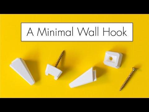 A Most Minimal 3D Printed Wall Hook