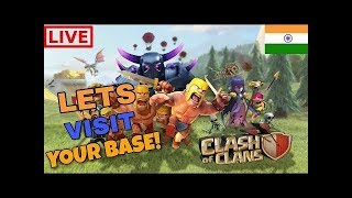 Clash of Clans live Stream base review and channel promote