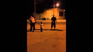 3 yr old makes up line dance bossy instr video