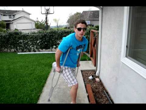 how to be cool on crutches youtube
