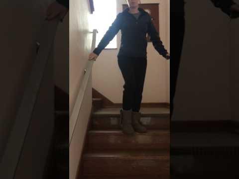 Legs shaking walking down stairs