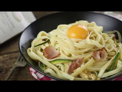 Рецепт Карбонара с лингвини и цукини