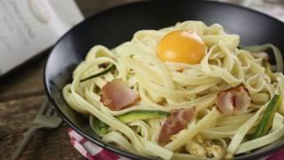 Как приготовить макароны? Карбонара с лингвини и цукини | Простой рецепт