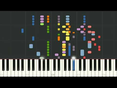 Mozart's Horn Concerto No.4 in Eb, the final movement Rondo - synthesia