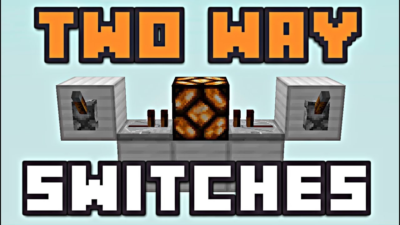 small resolution of minecraft two way switches redstone tutorial youtube minecraft 3 way switch wiring diagram