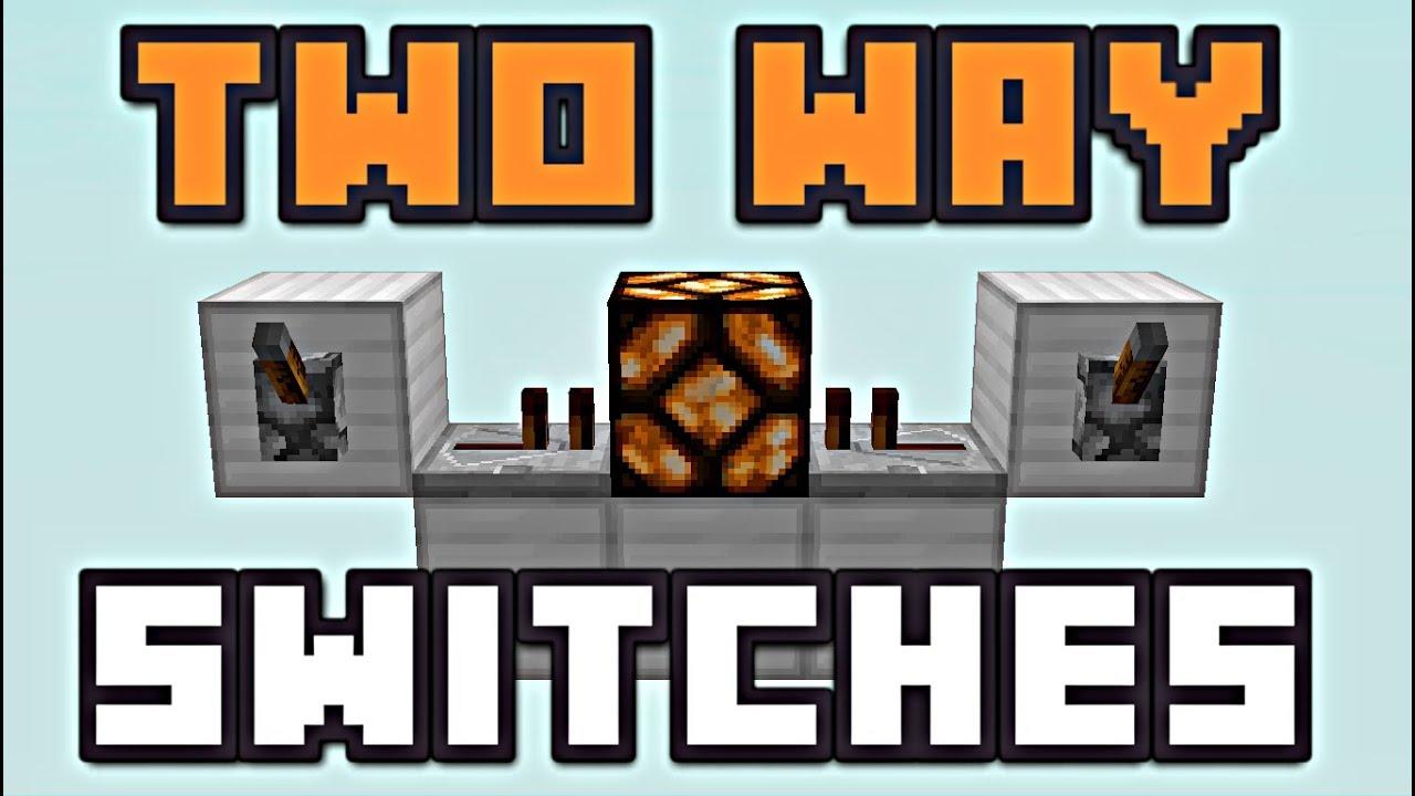 minecraft two way switches redstone tutorial youtube minecraft 3 way switch wiring diagram [ 1280 x 720 Pixel ]