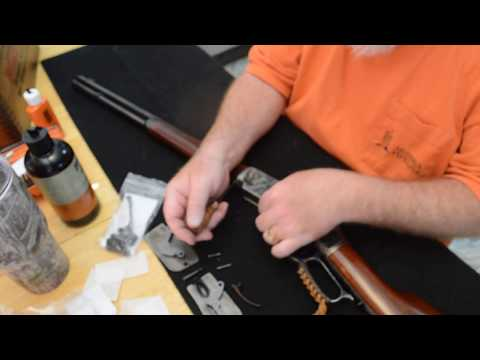 Cleaning a Uberti 1873 rifle in 357 magnum with short stroke kit