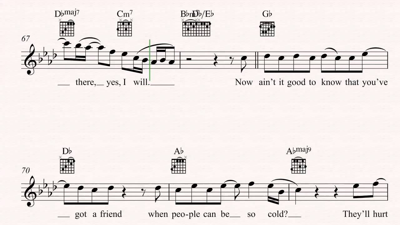 Guitar Youve Got A Friend Carole King Sheet Music Chords