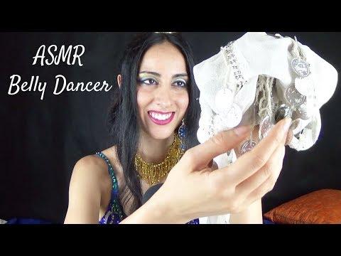 ASMR Belly Dancer Role-Play, 3 hip scarfs triggers
