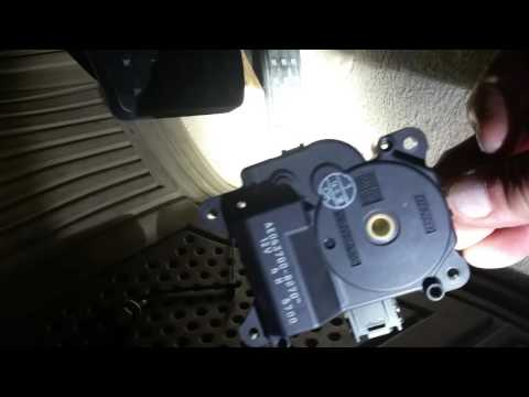 How To Replace A C Temperature Actuators On 2007 Cadillac