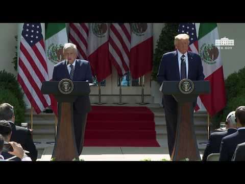 The White House: President Trump Signs a Joint Declaration with the President of the United Mexican States (EN+SP)