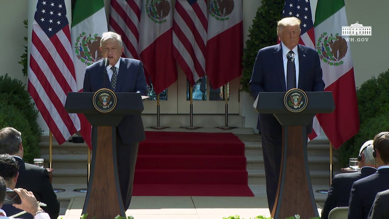President Trump Signs a Joint Declaration with the President of the United Mexican States (EN+SP)