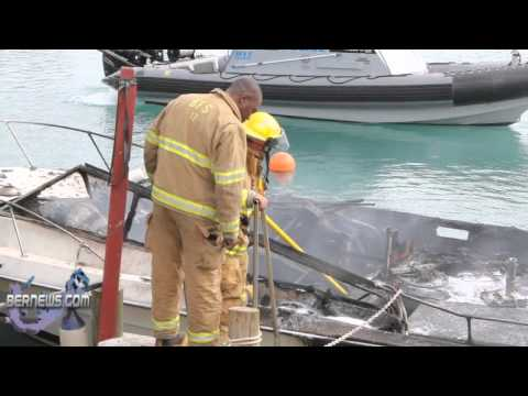 Scene of Boat Fire Dec 11, 2010