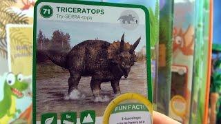 Dinosaur Trading Cards - Ancient Animals - Triceratops, Dimetrodon, Megatooth Shark Dinosaur Facts