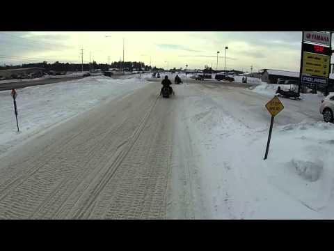 2015 Snowmobile trip Eagle River, WI (video1)