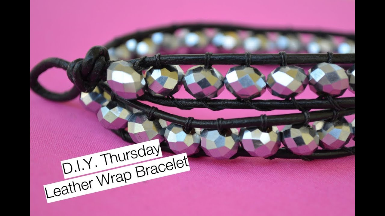 Diy Chan Luu Inspired Beaded Leather Wrap Bracelet  Nik Scott