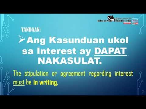 Contract Of Loan / Pautang