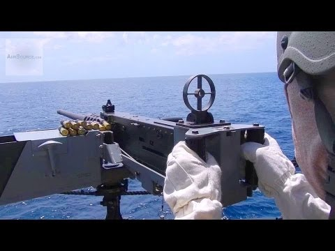 Firing M2 Browning .50 Caliber Machine Gun