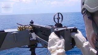 Firing M2 Browning .50 Caliber Machine Gun