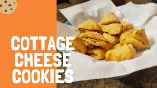 Cottage cheese cookies: sweet, folded Russian cookies.
