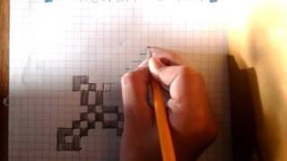 How to draw a minecraft sword
