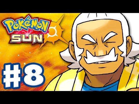 Pokemon Sun and Moon - Gameplay Walkthrough Part 8 - Hala's Melemele Grand Trial! (Nintendo 3DS)