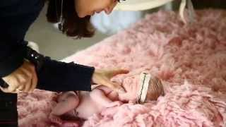 Natural light newborn photography with Ana Brandt and 9 day newborn baby girl Quinn