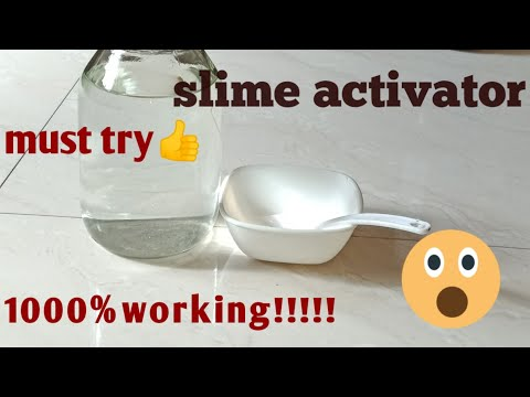 What kind of activator do you need to make slime