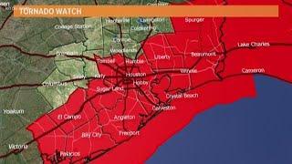 Houston Forecast: Tornado Watch in effect for Houston area