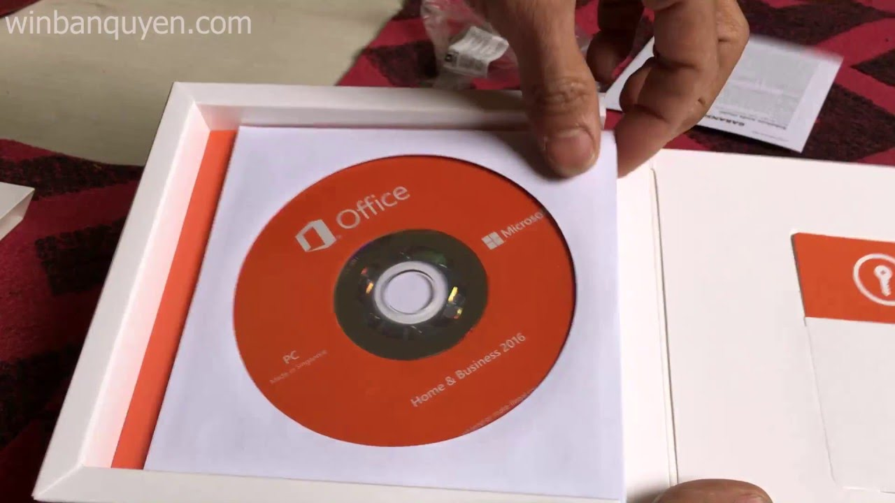 Microsoft Office Home and Business 2016 Unboxing - YouTube