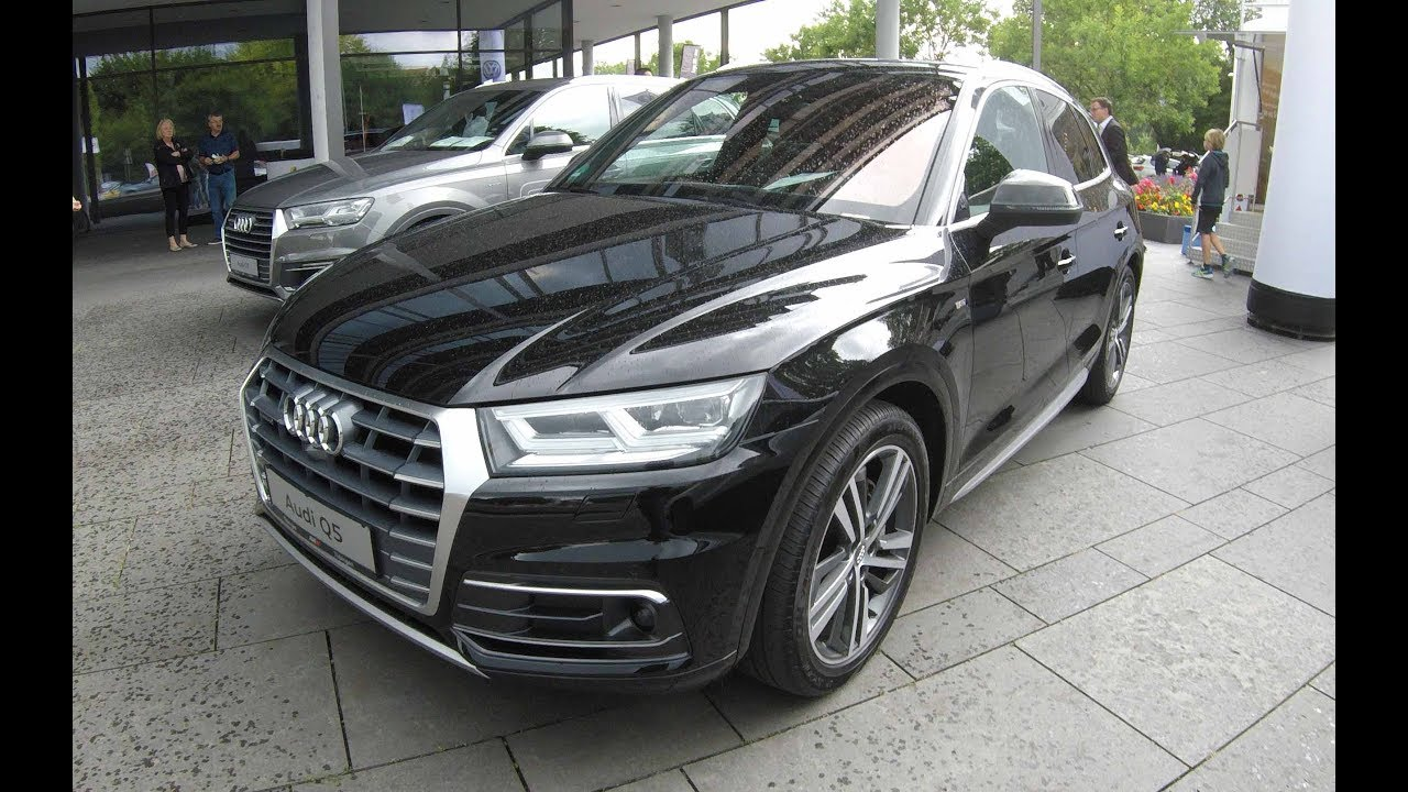 audi q5 s line tdi quattro black colour walkaround interior model 2017 youtube. Black Bedroom Furniture Sets. Home Design Ideas