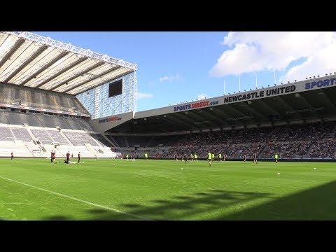Newcastle United Train At St James's Park