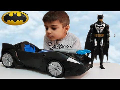 Batman ve batman arabası açtık, oynadık. Batman oyuncak videoları.