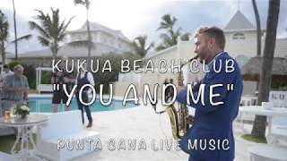 """YOU & ME"" sax cover at Kukua Beach Club Wedding"