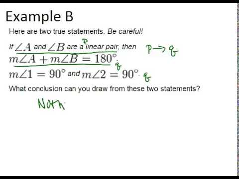 Deductive Reasoning Examples Geometry Concepts Youtube