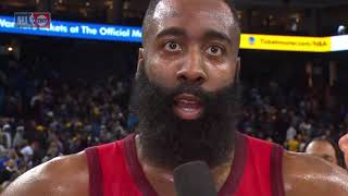 James Harden Postgame Interview | Warriors vs Rockets - January 3, 2019