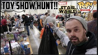 EPISODE 42 - TOY HUNTING AT A LOCAL TOY SHOW!! FUNKO POPS, MARVEL LEGENDS, Star Wars BLACK SERIES!!!